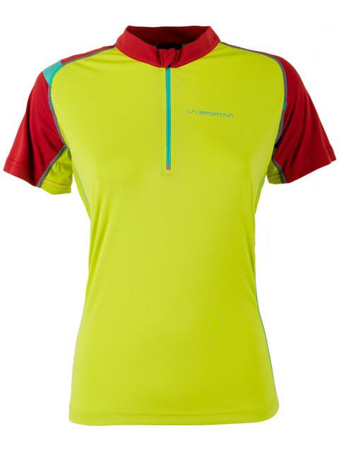 La Sportiva Forward Short Shleeve Shirt Women Sulphur/Berry